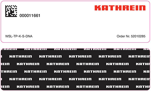 Kathrein Solutions – Windshield Label