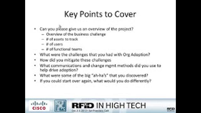 Change Management and Adoption: Asset Tracking Via RFID at Cisco