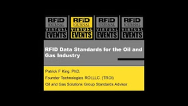 RFID Data Standards for the Oil and Gas Industry