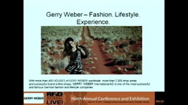 RFID Journal Award for Best Implementation: Gerry Weber International