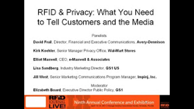 RFID and Privacy: What You Need to Tell Your Customers and the Media