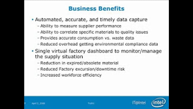 """Intel Leverages the Power of RFID Through """"Sense and Respond"""" (Part 3)"""