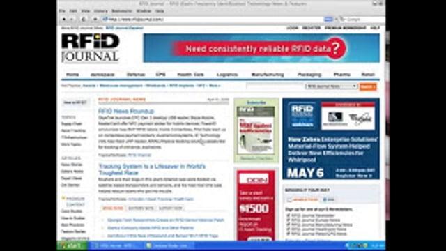 Organization of RFID Journal Articles
