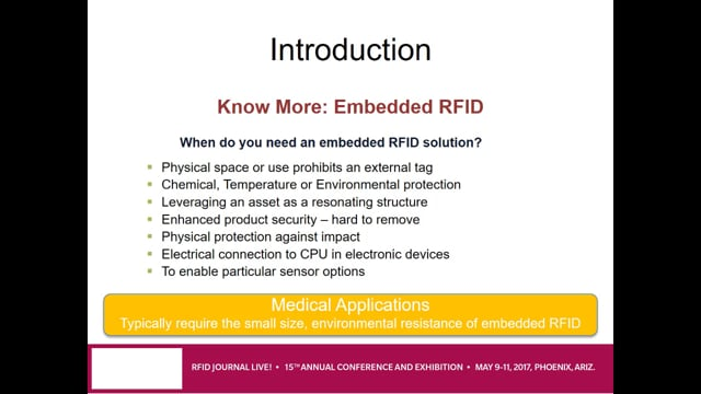 Embedded RFID for Medical Devices