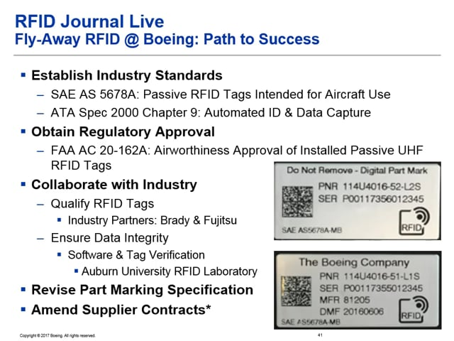 Boeing Deploys RFID In-House for Assembly Management