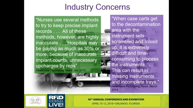Improving the Delivery and Management of Medical Devices via RFID
