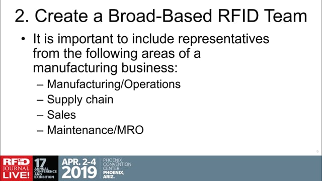 A Step-By-Step Approach to Developing a Strategic RFID Plan