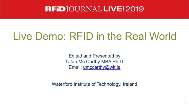 Live Demo: RFID in the Real World