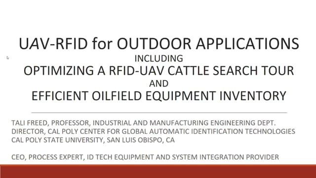 Drone RFID Read Rate Near 100 Percent for Inventory or Asset Management