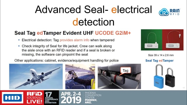 Solution Provider Session: Tamper-Evident RFID – When Security Matters