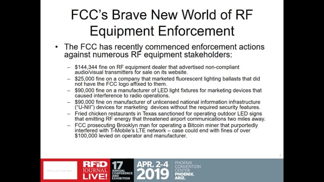 RFID Suppliers in the Crosshairs of FCC's Enforcement Bureau—How to Keep Your Business Safe