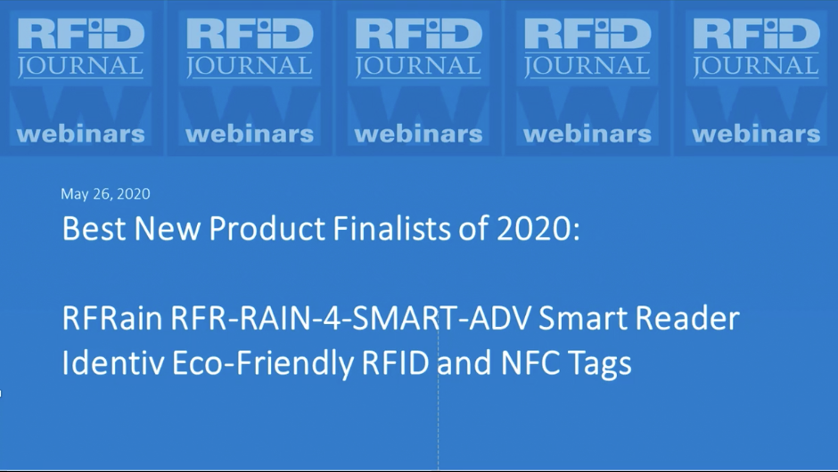 Best New Products of 2020: RFRain Smart Reader and Identiv Eco-Friendly Tags
