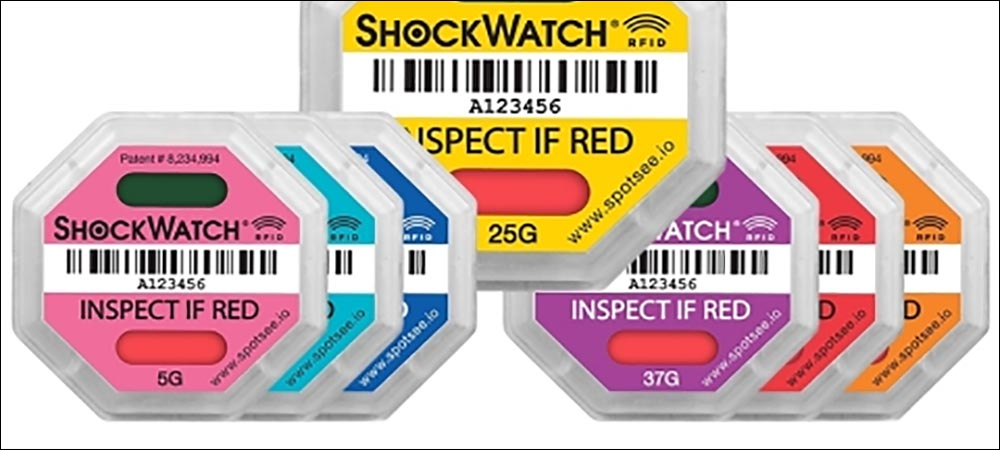 RFID Detects Drops, Falls and Impacts with Shock-Sensitive Goods