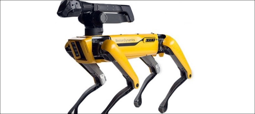 RFID Robot Dog Reads Inventory Counts